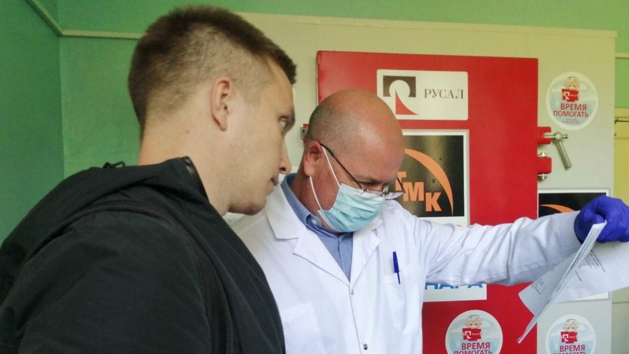 Дезинфекционная камера для провизорного госпиталя поступила в городскую больницу от благотворителей